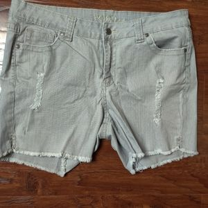 Reign Distressed Gray Short NWOT
